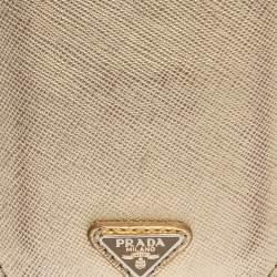 Prada Gold Saffiano Lux Leather iPhone Case