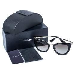 Prada Pale Gold Tone / Brown Gradient SPR 53S Cinema Evolution Sunglasses