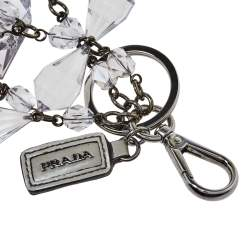 Prada Plex Crystal Key Chain and Bag Charm