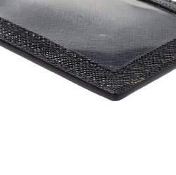 Prada Black Leather ID Badge Holder