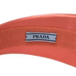 Prada Coral Pink Padded Satin Headband