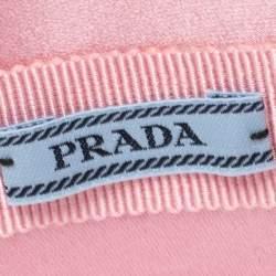 Prada Pink Padded Satin Headband
