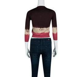 Prada Multicolor Gradient Crop Sweater M