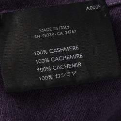 Prada Purple Cashmere Sleeveless Sweater S