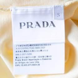Prada Yellow Cotton Jersey Short Sleeve Crew Neck T-Shirt S