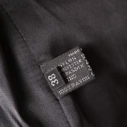 Prada Black Belted Coat S