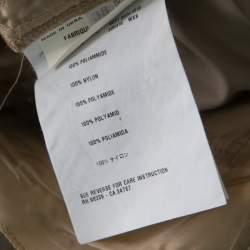 Prada Beige Silky Zip Detail Cargo Pants S