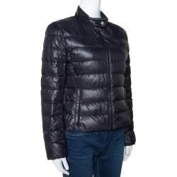 Prada Black Quilted Zip Front Puffer Jacket M