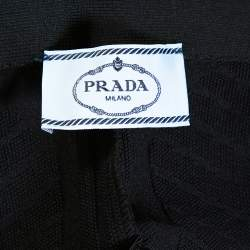Prada Black Geometric Motif Technical Leggings M