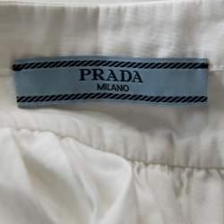 Prada White Cotton Button Front Oversized Blouse S