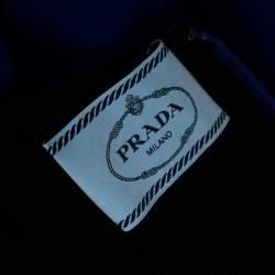 Prada Royal Blue Crepe Sleeveless Shift Dress S