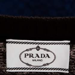 Prada Color Block Wool & Cashmere Crewneck Sweater S