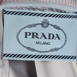 Prada Pastel Blue Crepe Paneled Midi Dress L