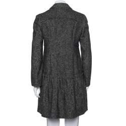 Prada Black Wool & Cashmere Mid Length Coat M