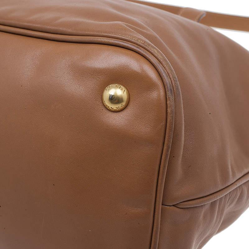Prada Tan Soft Calf Leather Tote