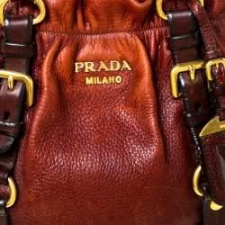 Prada Copper Leather Vitello Daino Hobo