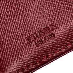 Prada Red Nylon Logo Trifold Wallet