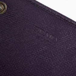 Prada Saffiano Triangle Continental Flap Wallet