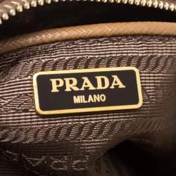 Prada Caramel Saffiano Leather Camera Pushlock Crossbody Bag