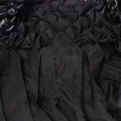 Prada Black Tessuto Nylon Origami Pleated Tote