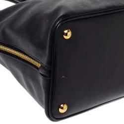 Prada Black Saffiano Lux Leather Large Promenade Bag