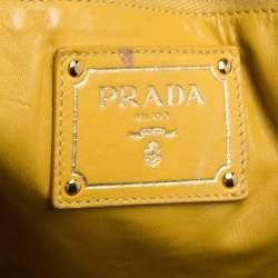 Prada Yellow/Black Python Shopper Tote