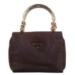Prada Brown Tessuto Satchel Bag