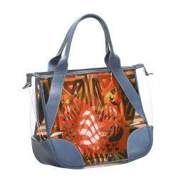 Prada Transparent Printed Vinyl Tote Bag