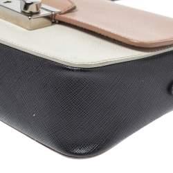 Prada Tri Color Saffiano Lux Leather Mini Sound Crossbody Bag