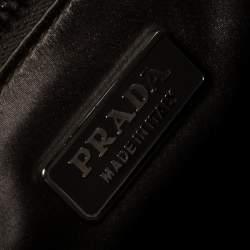 Prada Black Leather Vintage Flap Tote