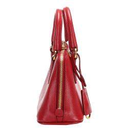 Prada Red Leather Saffiano Promenade Bag