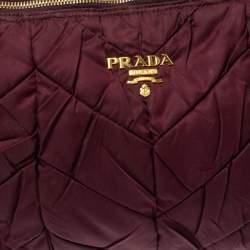 حقيبة برادا سلسلة نايلون غاوفري عنابي
