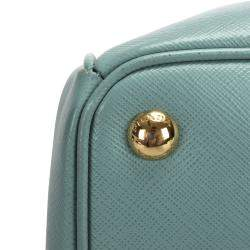 Prada Blue Saffiano Leather Galleria Satchel Bag