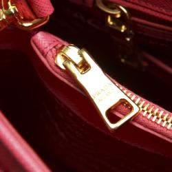 Prada Pink Saffiano Leather Satchel Bag
