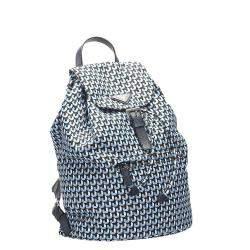 Prada Blue Nylon Tessuto Stampato Backpack