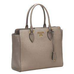 Prada Grey Saffiano leather Satchel Bag