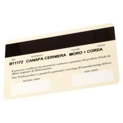 Prada Dark Brown/Cream Canvas and Leather Canapa Cerniera Frame Bag