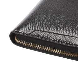 Prada Black Saffiano Leather Organizer Wallet
