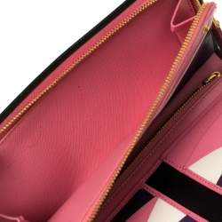 Prada Black Saffiano Lux Leather Bifold Wallet Organizer