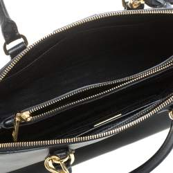 Prada Black Saffiano Leather Promenade Satchel