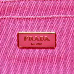 Prada Pink Canvas Canapa Tote Bag