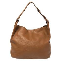 Prada Brown Diano Leather Hobo