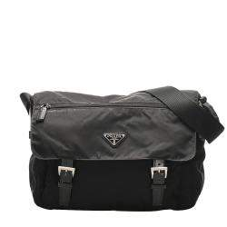 Prada Black Tessuto Nylon Shoulder Bag