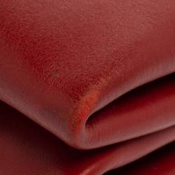 Prada Red Leather Double Shoulder Bag