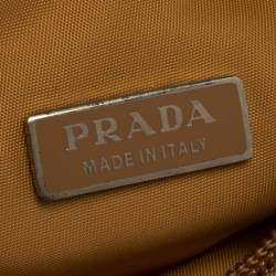 Prada Beige Nylon Mini 2000 Bag