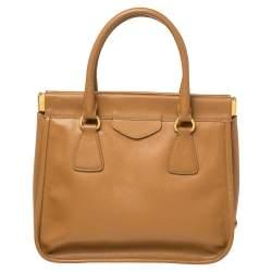 Prada Brown Leather Cannella Satchel