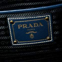 Prada Blue Saffiano Lux Leather Tote
