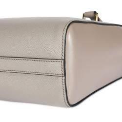 Prada Argilla Saffiano City Calf Leather Tote Bag