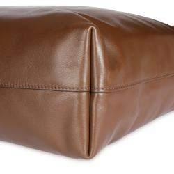 Prada Palissandro Soft Calf Leather Convertible Shopping Tote Bag