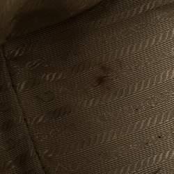 Prada Metallic Gold Saffiano Lux Leather Medium Double Zip Tote